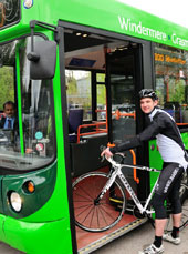 Bike-bus service in the Lakes