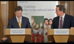 Coalition mid-term press conference - BBC screenshot