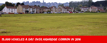 South Bristol Link - 19,000 vehicles a day over Highridge Common in 2016