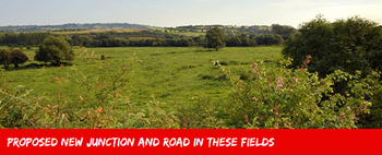 South Bristol Link - proposed new junction and road in these fields