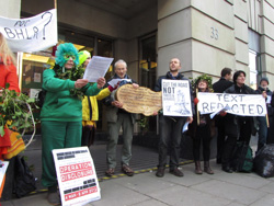 Combe Haven Defenders protest at the DfT to get documents released