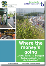 Cover of LTBs report 2013 - Where the Money's Going