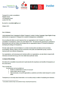 Transparency letter to TfL - click to read pdf