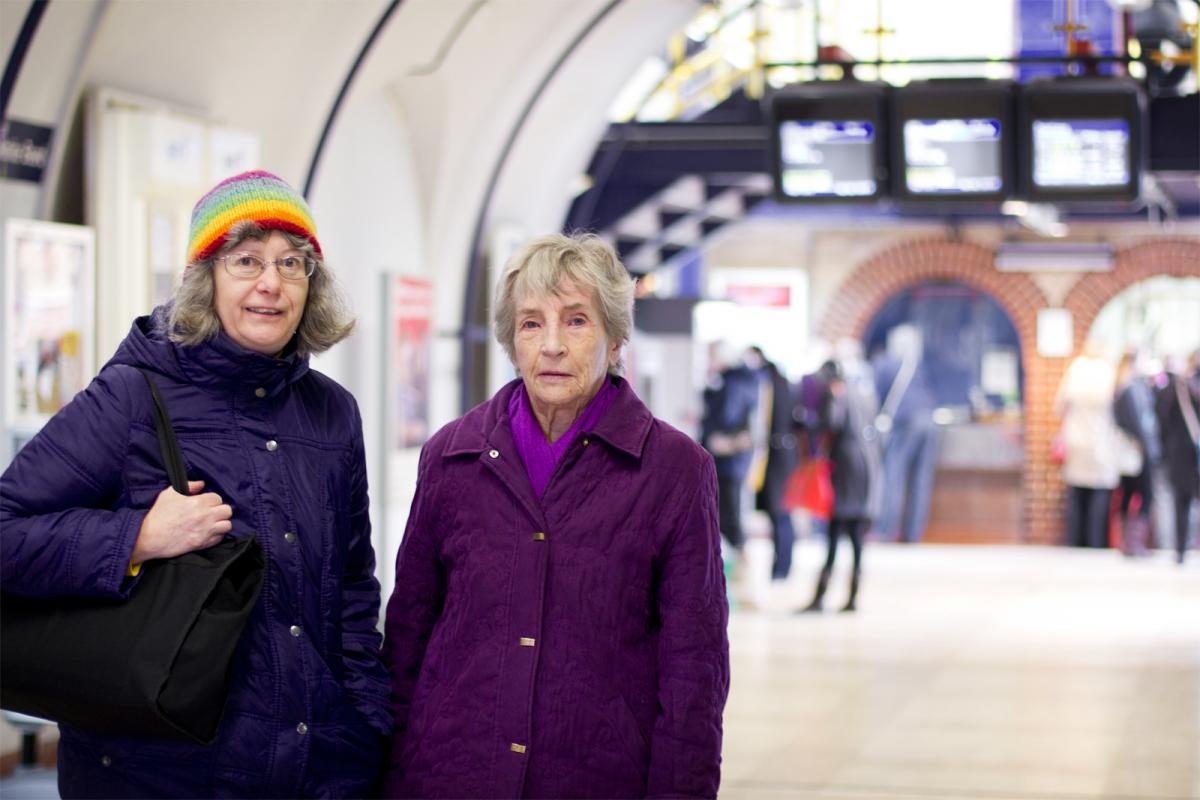 Angela and Jan at Chelmsford station