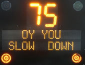 Photo: slow down sign