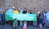 Photo: demo in favour of a transport authority