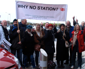 Photo: Demo for a station at Glyne Gap