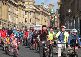 Space for Cycling event, Newcastle