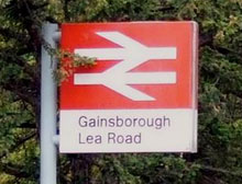 Gainsborough station sign