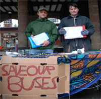 Photo: petition stall in Ross-on-Wye