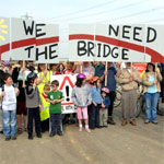 Photo: protest for Wing Hill Bridge