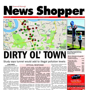 Cover of News Shopper 17 October 2013