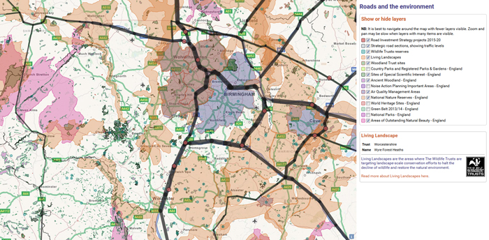 Map Of England Roads.Which Main Roads Need A Green Retrofit Campaign For Better Transport