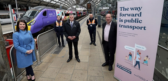 Photo: campaign banner at Liverpool Lime Street station