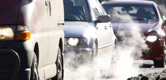 Cars and exhaust fumes