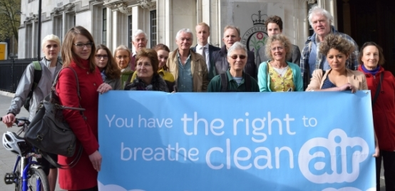 Health Air Campaign outside the Supreme Court