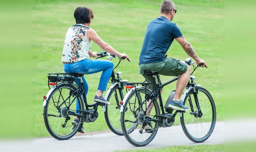 Photo: people on e-bikes