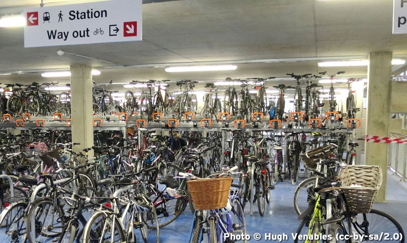 Photo: cycle parking at station
