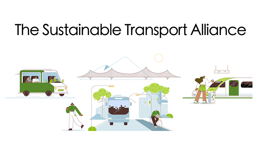 Sustainable Transport Alliance: image with various transport modes