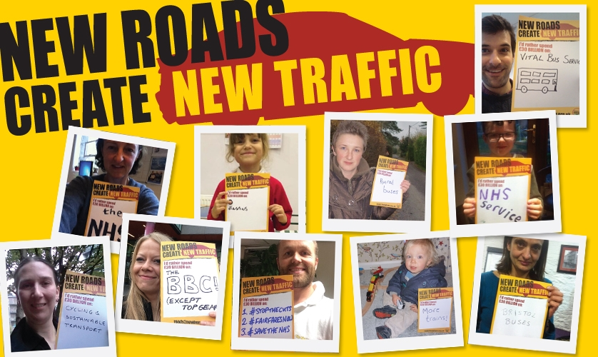 New roads create new traffic - tell us how you would spend £30 billion