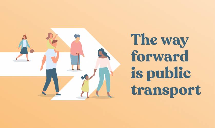 The way forward is public transport