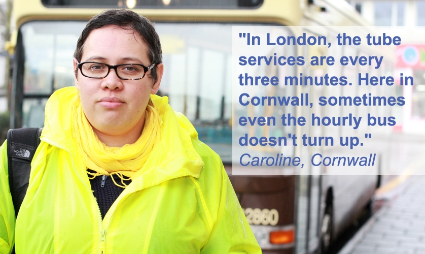 Bus user Caroline from Cornwall