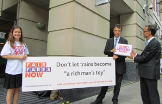 Fair Fares Now petition hand in
