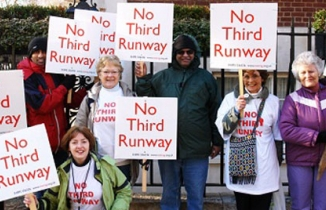 No Third Runway protesters