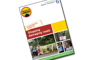 Front cover of our road campaigner's guide