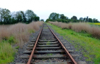 Photo: disused rail line
