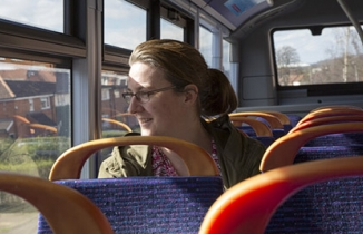 Photo: bus passenger