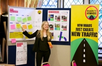 Our campaigner Sian Berry at the conference