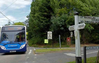349 bus at Sandhurst Cross