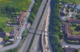 A27 Falmer from the air