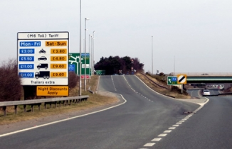 M6 Toll Exit by Sean Marshall on flickr