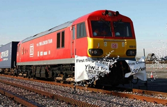 First freight train from China
