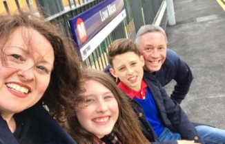 Family at Low Moor Station