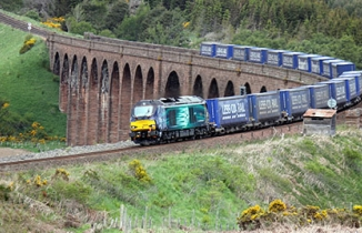 Direct Rail Services Tesco traffic which produces 87 per cent less CO2 emissions than HGVs