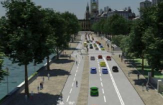 Victoria Embankment - image from TfL's Vision for Cycling