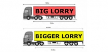 Graphic comparing lorry lengths