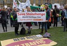 Campaigners at Parliament for the Infrastructure Bill debate