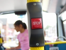 stop bell on a bus