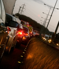 motorway queue by Sam Leech via Flikr