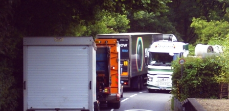HGVs through Melbury Abbas