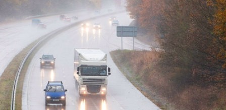 Road in the rain - photo by Highways Agency on flickr